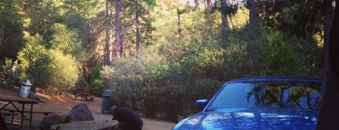 Yosemite Pines RV Resort and Family Lodging is one of Tempat yang Disukai Larissa.