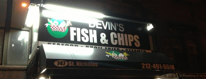 Devin's Fish & Chips is one of Harlem.