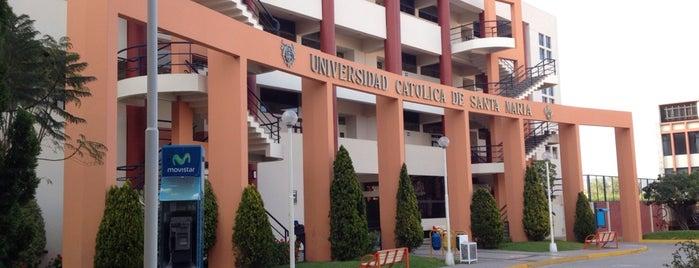 Universidad Católica de Santa María (UCSM) is one of Los más frecuentados.