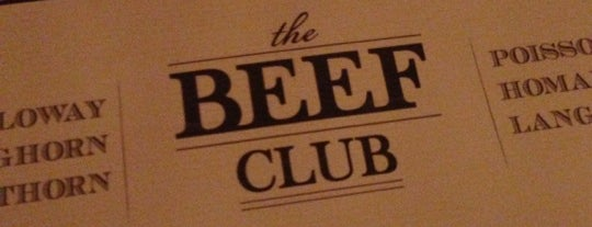The Beef Club is one of Repères à tester.