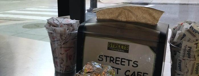 Streets Market & Cafe is one of Tempat yang Disukai Chelsea.
