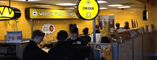 Which Wich? Superior Sandwiches is one of Lugares favoritos de Kristen.
