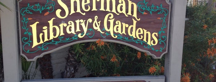 Sherman Library and Gardens is one of Local Spots.