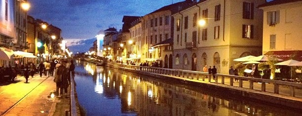 Navigli is one of Milan by night.