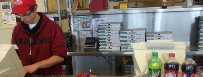Papa John's Pizza is one of Tempat yang Disukai Brandon.