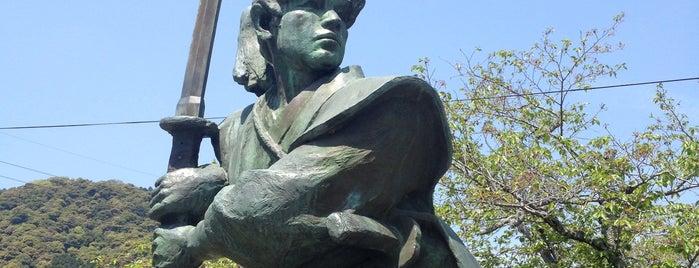 剣豪 佐々木小次郎の像 is one of 広島 呉 岩国 北九州 福岡.