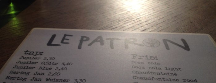 Le Patron is one of Amsterdam.