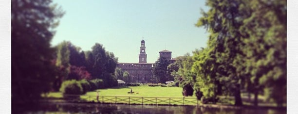 Parco Sempione is one of Milan - in the day.