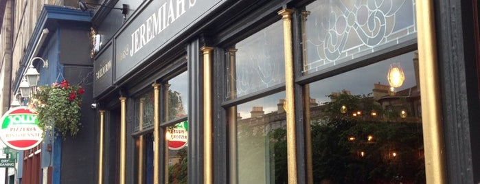 Jeremiah's  Taproom is one of Edinburgh.