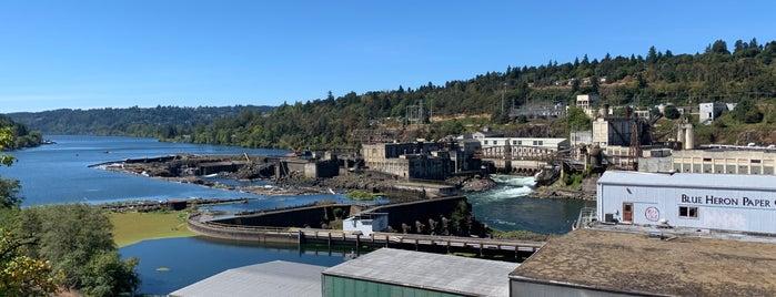 Willamette Falls is one of Portland.