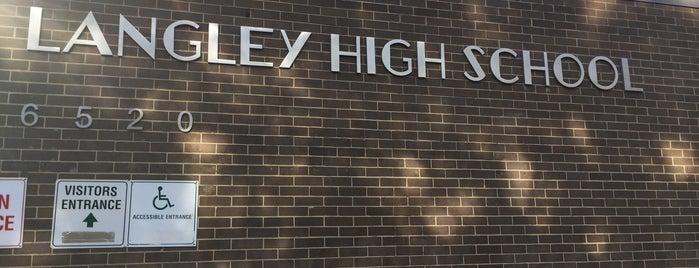 Langley High School is one of Locais curtidos por E. B..