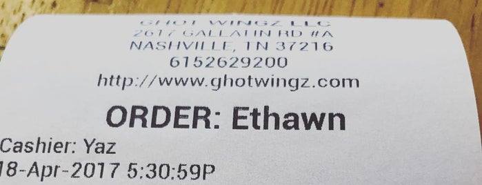 Ghot Wingz is one of Nashville.