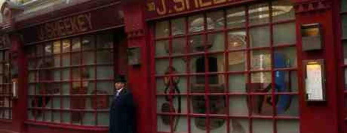J Sheekey is one of London's great locations - Peter's Fav's.
