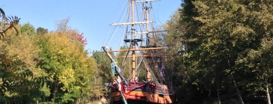 Pirate's Lair on Tom Sawyer Island is one of Fake Ships (fantasy replicas).