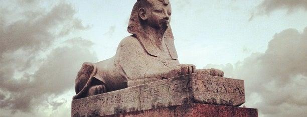 Quay with Sphinxes is one of Интересное в Питере.