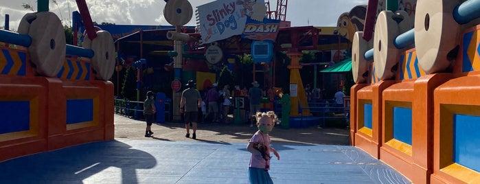 Slinky Dog Dash is one of Hollywood Studios.
