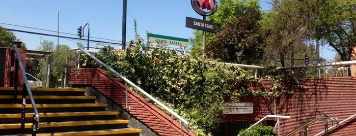 Metro Santa Isabel is one of Santiago.