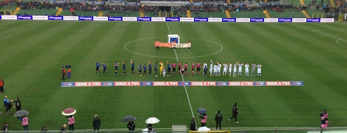 Stadio Atleti Azzurri d'Italia is one of Lega Italia Serie A TIM Stadium (Season 2013-2014).