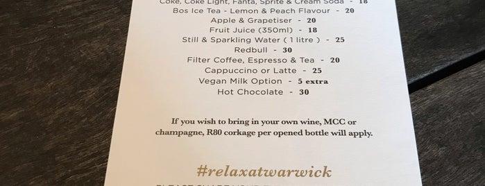 Warwick Wine Estate is one of lua de mel restaurantes.