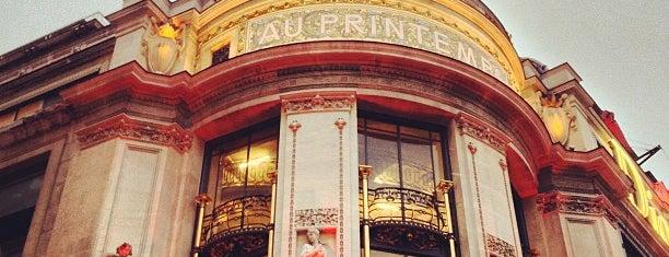 Printemps Haussmann is one of Paris.