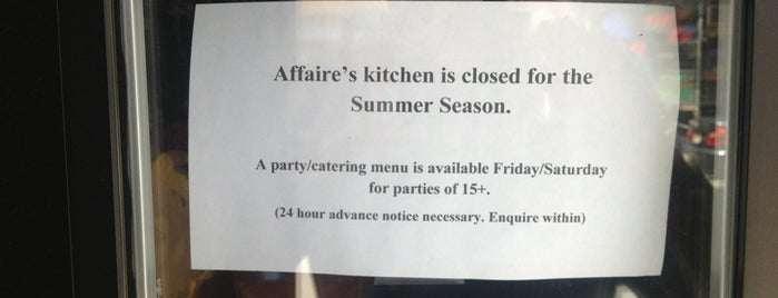 Affaire is one of French Restaurant.