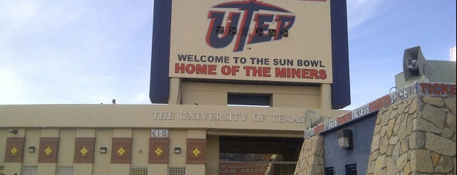 Sun Bowl Stadium is one of Sporting Venues To Visit.....