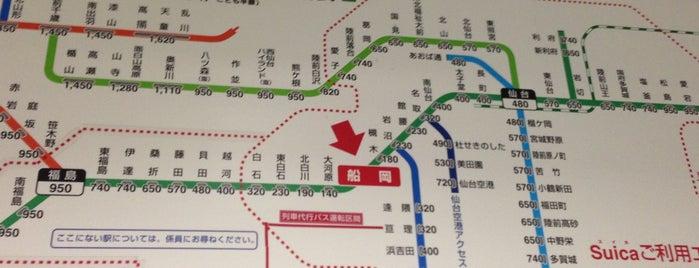 Funaoka Station is one of JR 미나미토호쿠지방역 (JR 南東北地方の駅).
