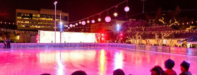 ICE at Santa Monica is one of Your Ultimate Guide To Outdoor Ice Rinks In L.A..
