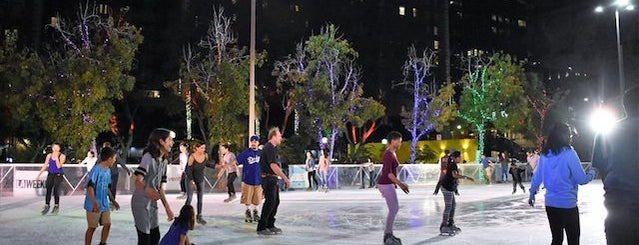 Holiday Ice Rink at Pershing Square is one of Your Ultimate Guide To Outdoor Ice Rinks In L.A..