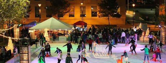 The Rink in Downtown Burbank is one of Your Ultimate Guide To Outdoor Ice Rinks In L.A..