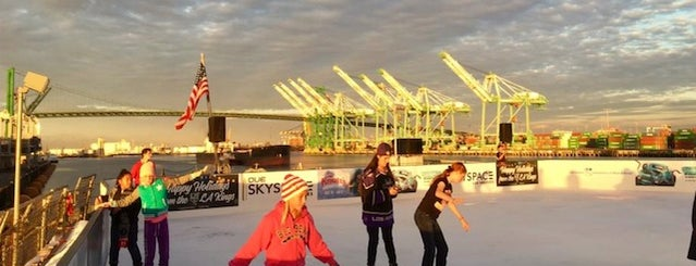 USS Iowa (BB-61) is one of Your Ultimate Guide To Outdoor Ice Rinks In L.A..