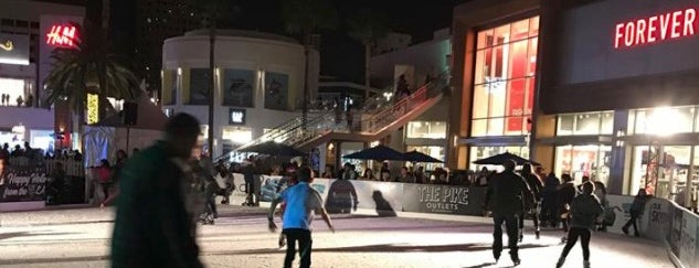 The Pike Outlets is one of Your Ultimate Guide To Outdoor Ice Rinks In L.A..