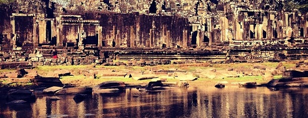 Bayon Temple is one of Siem Reap, Cambodia.