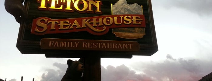 Teton Steakhouse is one of Wyoming Culinary Digs.