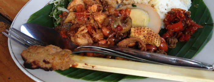 Nasi Ayam Kedewatan Ibu Mangku is one of Must-visit Food in Bali.