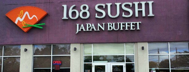 168 Sushi is one of Locais salvos de karla.
