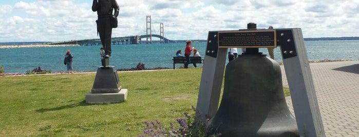 Bridge View Park is one of St. Ignace.
