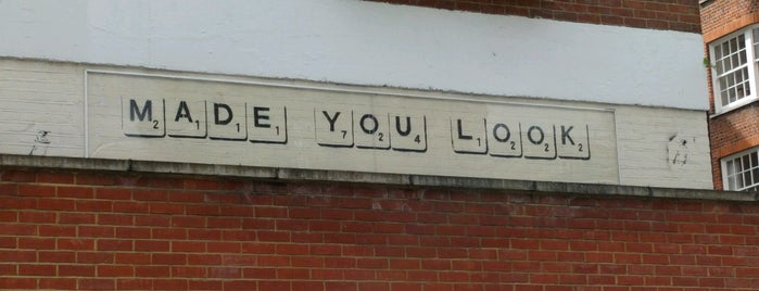 Another Banksy - Made You Look is one of My London tips!.