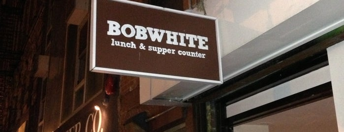 Bobwhite Counter is one of NY Eater - Try this weekend.