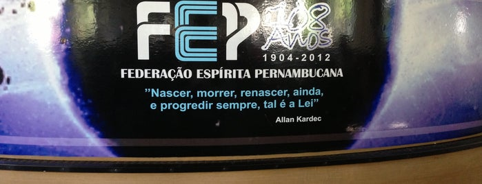 FEP - Federação Espírita Pernambucana is one of Tempat yang Disukai Luiz.