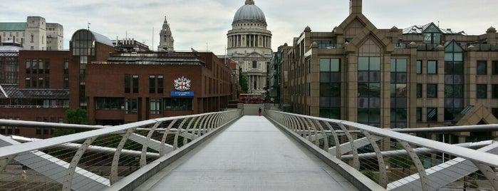 Millennium Bridge is one of London Cultural.