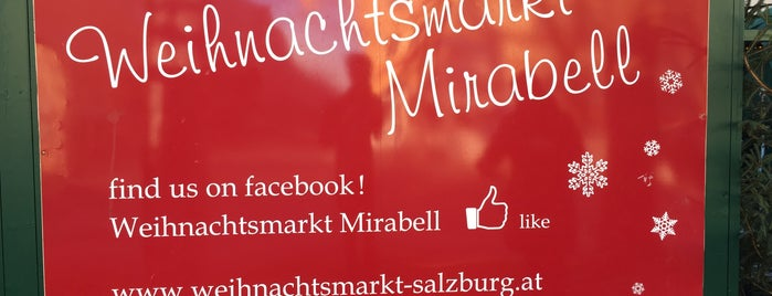Weihnachtsmarkt am Mirabellplatz is one of Salzburg 🇦🇹.