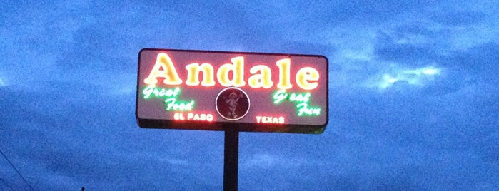 Andale's Mexican is one of El Paso.
