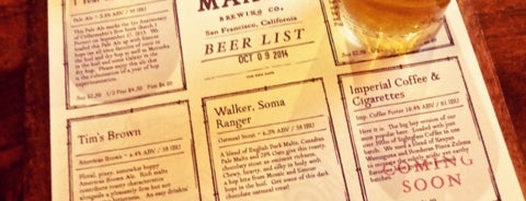 Cellarmaker Brewing Company is one of To-do: San Francisco.