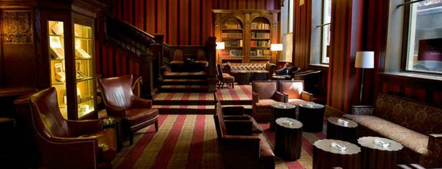 The Carnegie Club is one of 10 of NYC's Best Bars with Books.
