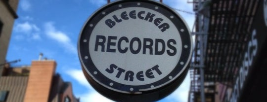 Bleecker Street Records is one of บันทึกเดินทาง New York.