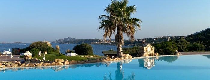 Colonna Beach Hotel And Resort Porto Cervo is one of Tempat yang Disukai Michael.