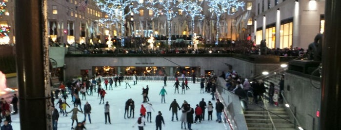 The Rink at Rockefeller Center is one of New York City Landmarks.