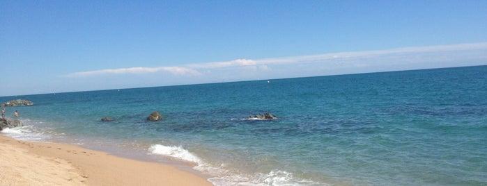 Platja De Roques Blanques (Sant Pol) is one of Playas de España: Cataluña.