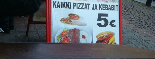 Barbarossa Pizza & Kebab is one of Helsinki - Stockholm (13.12.15-15.12.15).